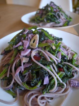 赤水菜のペペロンチーノ1.jpg